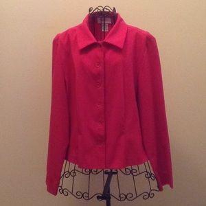 Chadwick's lightweight red jacket